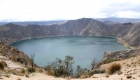 View of the Crater Lake of Volcano Quilotoa