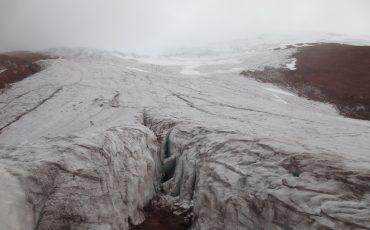 En el tour de escalar va a pasar por el glaciar del Cotopaxi