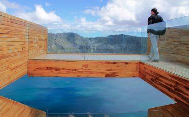 Las nuevas instalaciones le permiten una vista extraordinaria sobre la laguna Quilotoa.