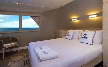 Las cabinas de Odyssey son comodas e amplios.