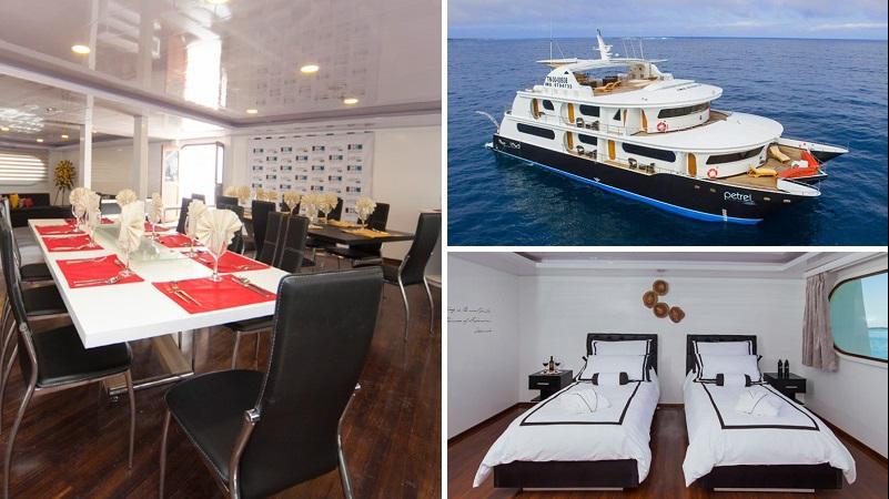 Descubra las Islas Galapagos en un maravilloso crucero con el luxury catamaran Petrel