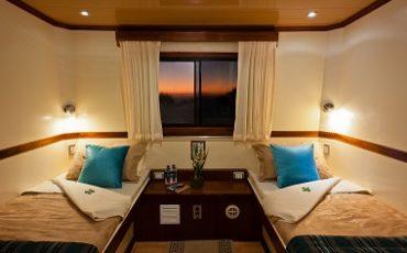 El catamaran Seaman ofrece cabinas amplias y comodas.
