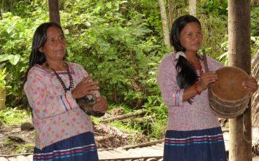 Durante su estadia en el parque Yasuni va a visitar una comunidad de indigenos.
