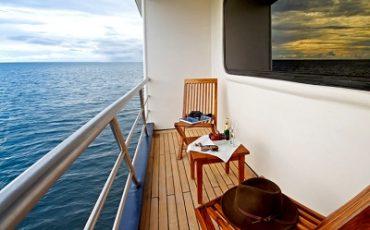 Desde el balcon del Oceans Spray puede disfrutat de hermosas vistas sobre el mar.