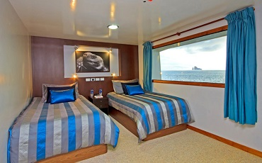 Las cabinas de Ocean Spray son comodos y espaciosos.