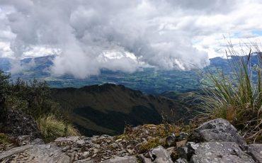 puede disfrutar de una vista espectacular desde la cumbre del Pasochoa