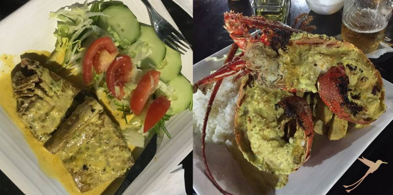Enjoy delicious seafood on Santa Cruz.