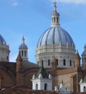 The cathedral of Cuenca has beautiful cupolas. To see on the Andean Highlights Tour.