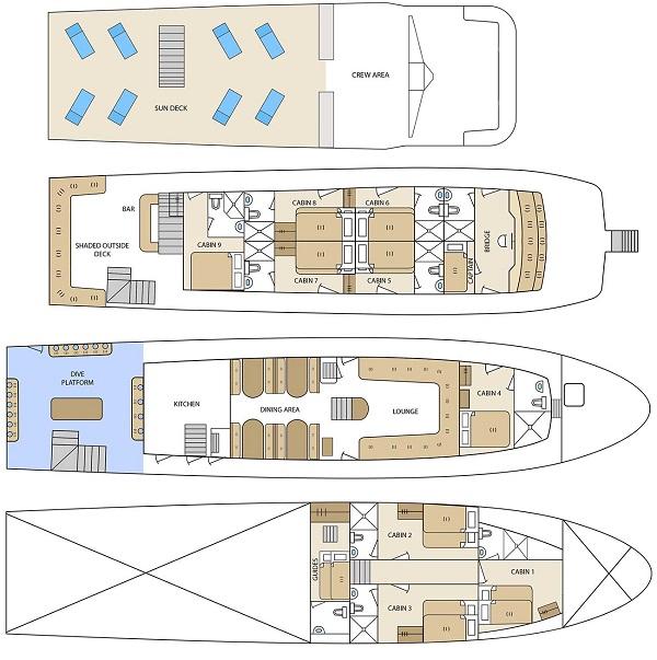 Deckplan Aqua