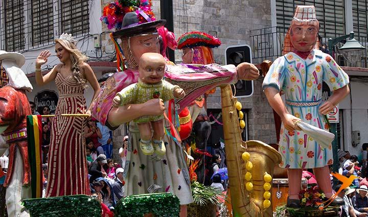 desfile de las flores de las frutas