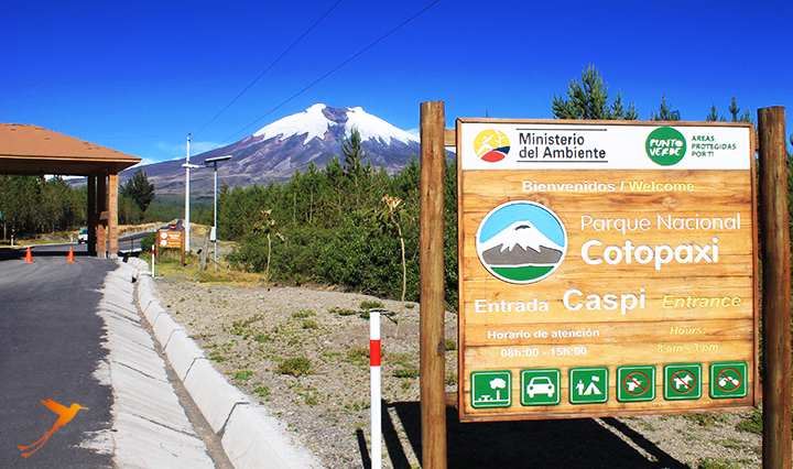 Entrance Cotopaxi National Park
