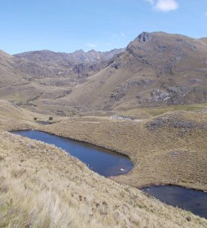 The Cajas National Park shows wasteland and many lakes. # Andean Highlights Tour.