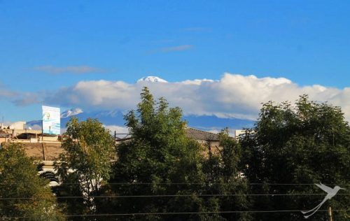 The Chimborazo can be seen from far away.