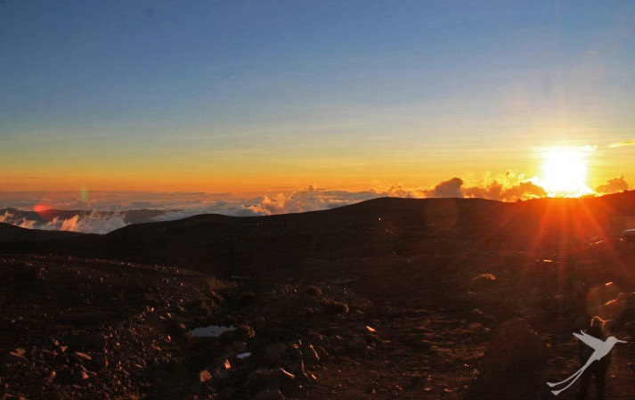 You can observe spectecular sunrises on the Chimborazo climbing tour.