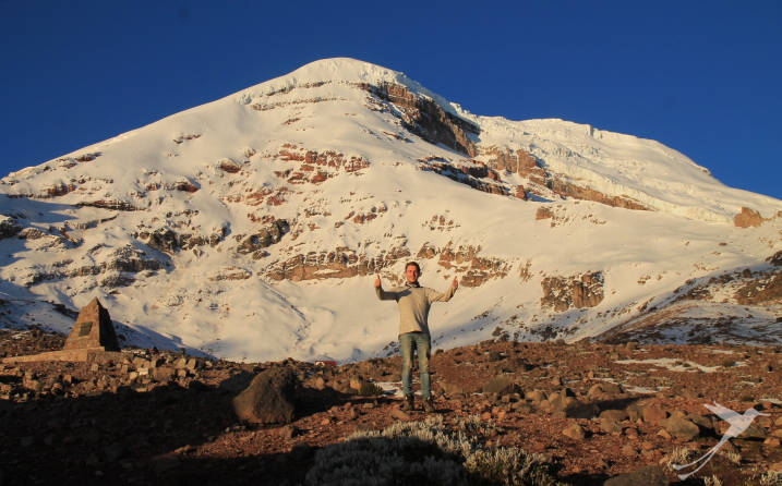 The Chimborazo is a real challenge for climbers.