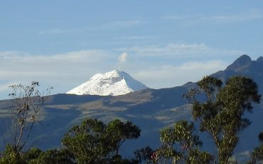 On clear day you can see the snow-covered Cotopaxi during the Cotopaxi climbing tour
