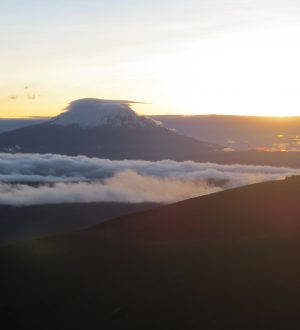 With some luck you can observe a breathtaking sunrise during the Cotopaxi Climbing Tour.