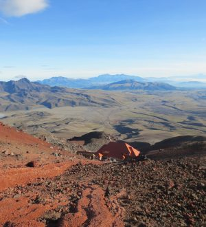 The landscape around the Cotopaxi is quite special.