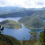 The Cuicocha lake is called like this because the Islands of the lake are shaped like a guinea pig - cuy.