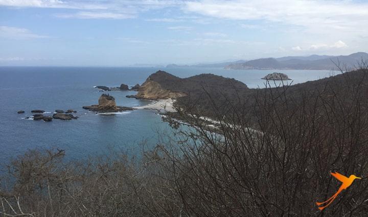 Los Frailes view from mirador