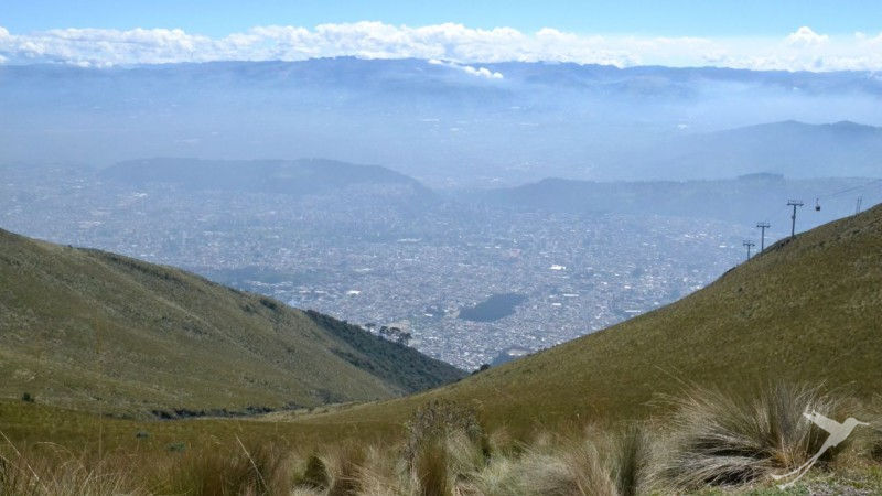 The teleferico of Quito takes you up the Andes and you have amazing views over the city.