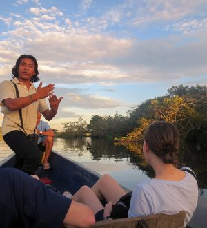 Your experienced naturalist guide will explain you the Amazon region.