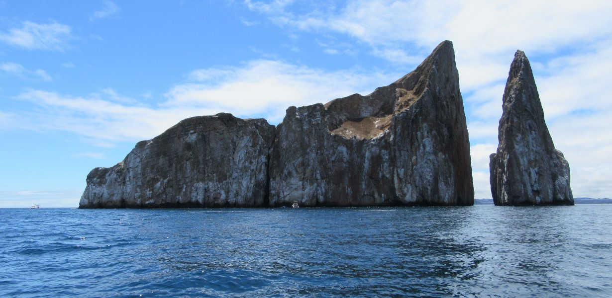Kicker Rock is an amazing rock formation near San Cristobal Island.