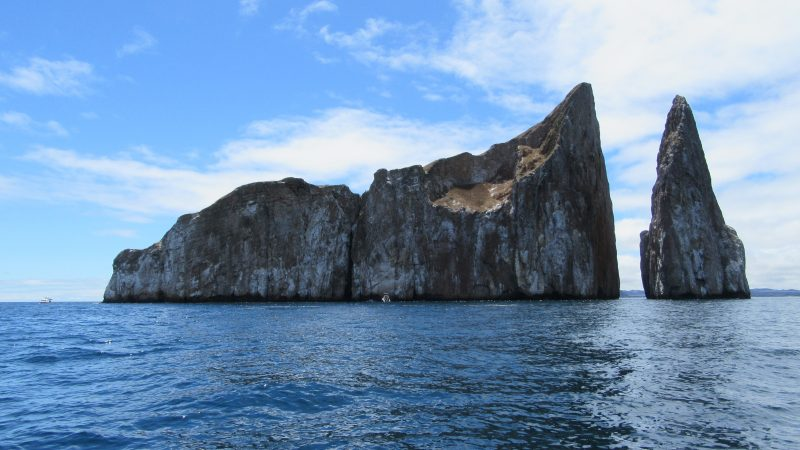 Kicker Rock is an amazing rock formation near San Cristobal Island.