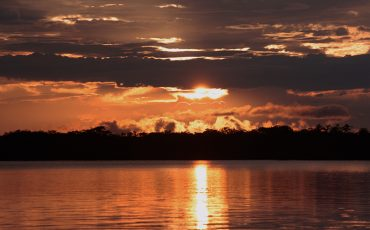 Enjoy beautiful sunsets over the Cuyabeno River. The Cuyabeno Rainforest Tour