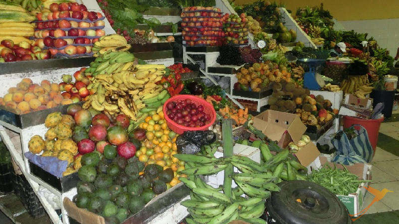 Some sections of the markets are a paradiese for vegetarians.