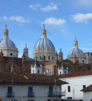 The cupolas of Cuanca's new cathedral are very impressive.