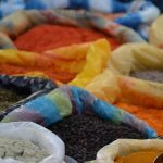 The Otavalo market is full of colorful spices