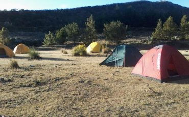Sleep in tents within a beautiful landscape during the condor trek