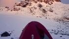 mountain climbing camping