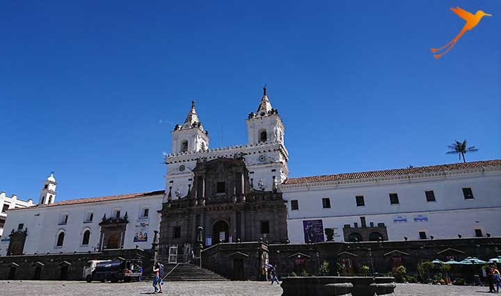 Plaza san franzisco in Quitos old town