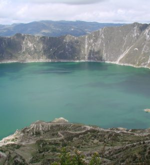 The Quilotoa is one of Ecuadors many crater lakes.
