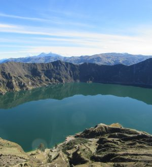 The Quilotoa crater offers spectecular views