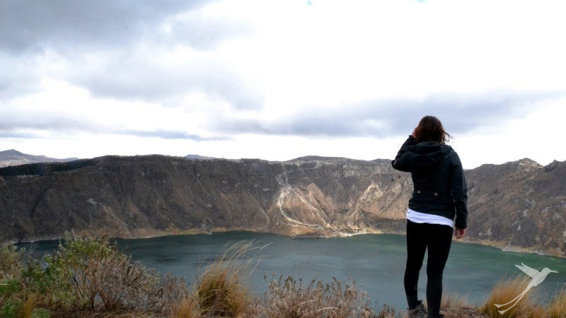 A hike around the Quilotoa crater lake is an amazing experience.