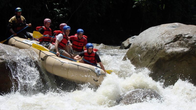 River rafting is only one of the adrenaline activities you can do in Ecuador