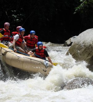 There are many possibilities for river rafting in Ecuador.