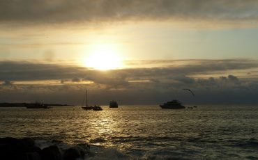 Watch beautiful sunsets on you landbased Galapagos tour.