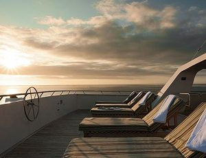 Relax on the sun deck of the Seaman Jouney while cruising to the islands of Galapagos