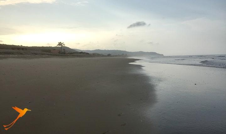 Beach near Puerto López Ecuador