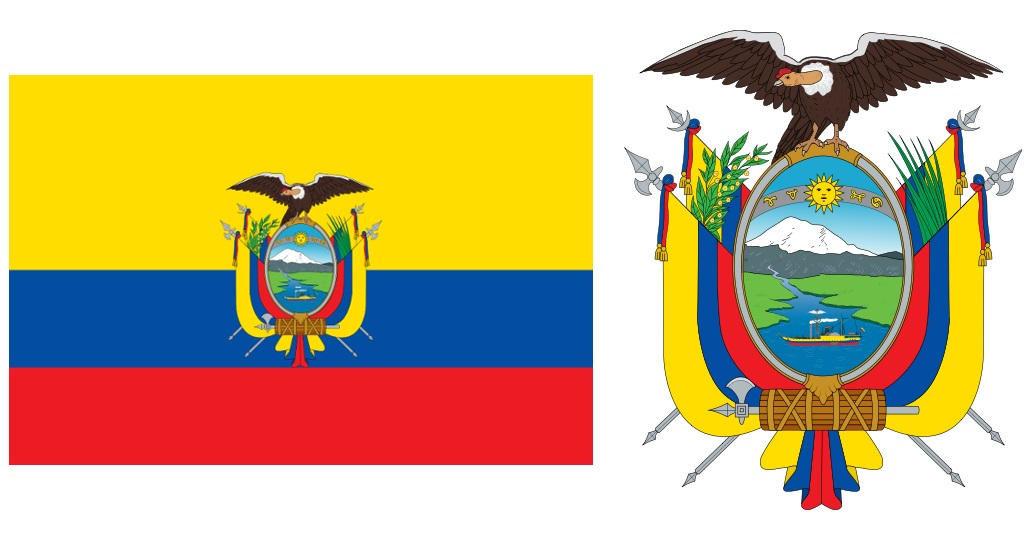Andean Condor and Ecuadorian Flag