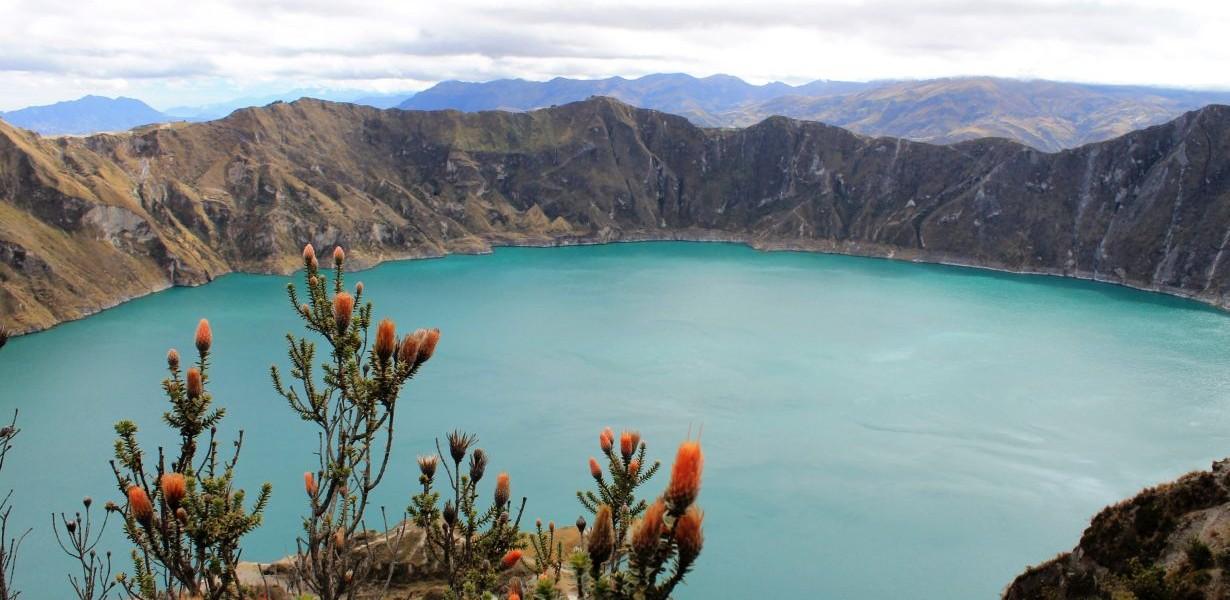 Quilotoa lagoon near Riobamba
