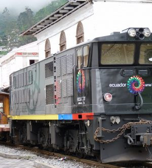 Discover the landscape around Alausi with the famous Devil's nose train.