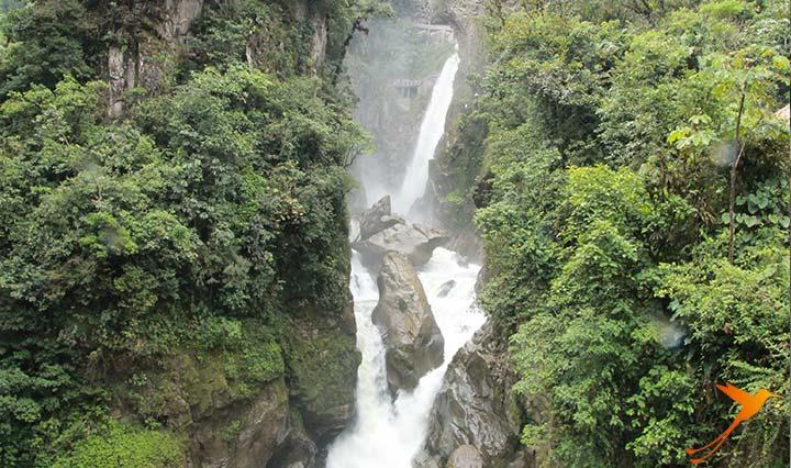 Waterfall in Baños de Agua Santa