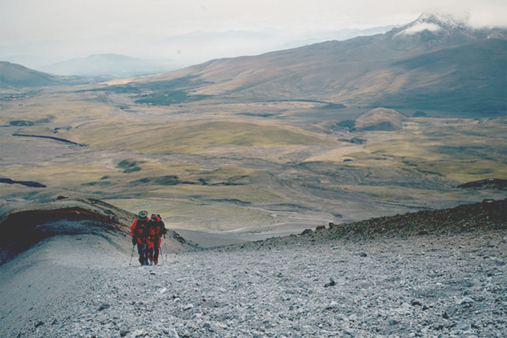 trekking tour at the chimborazo ith experienced guide