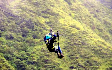 In baños you can do adventure activities like zip-lining