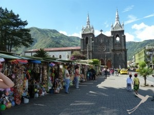 Baños is a nice little town at the Tunguragua volcano.